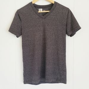 BDG Medium Heather Gray Slim Fit V-Neck Tee